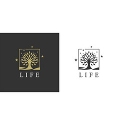 Tree life logo icon vector