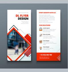 Tri fold brochure design corporate business vector