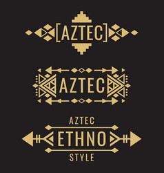 Tribal aztec mexican ornaments vector