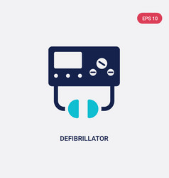 Two color defibrillator icon from health vector