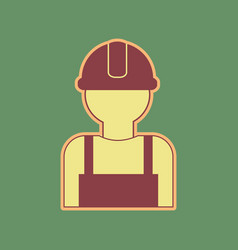 Worker sign cordovan icon and mellow vector
