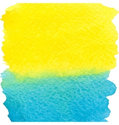 Yellow and blue watercolor squarer background vector