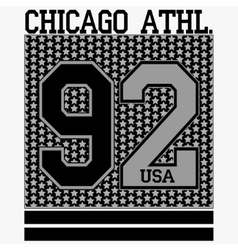 Chicago t-shirt vector image