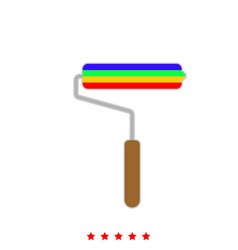 paint roller it is icon vector image