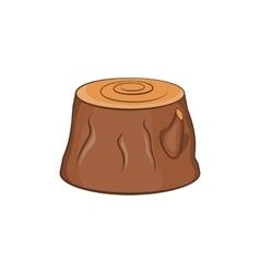 Tree stump icon cartoon style vector image