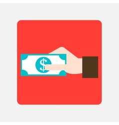 giving money icon vector image