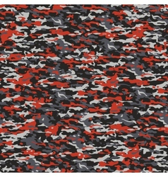 Gray and red camouflage vector image vector image