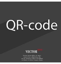 Qr code icon symbol Flat modern web design with vector image