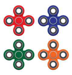 set of spinner new popular anti-stress toy vector image
