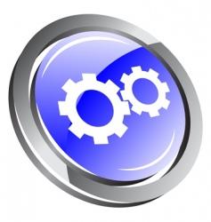 3d gear icon vector image