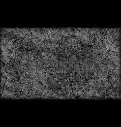 black and white abstract scratched grunge vector image vector image