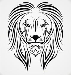 Lion Head Tribal vector image vector image