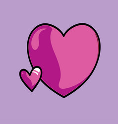 pink hearts on a red background vector image