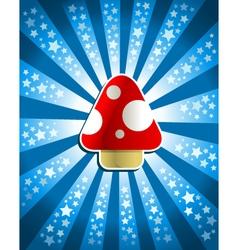red magic mushroom vector image vector image