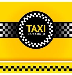 Taxi symbol square vector image vector image