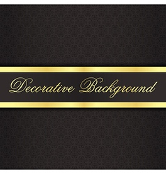 Black vintage background with black ribbon with vector image vector image