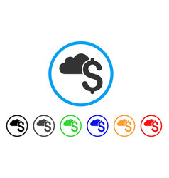 cloud banking rounded icon vector image vector image