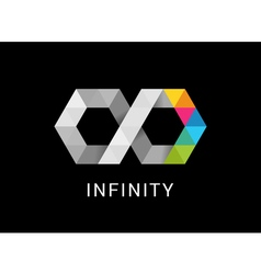 Colorful abstract infinity endless symbol and icon vector image vector image