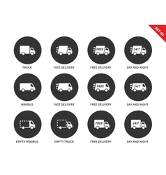 Delivery icons on white background vector image vector image