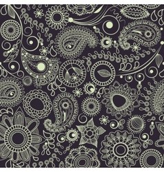 floral paisley pattern vector image