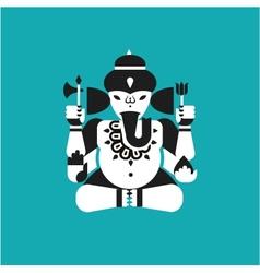 Indian elephant god Ganesha vector image