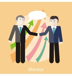 Mentor Concept vector image vector image
