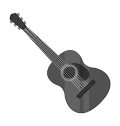 Spanish acoustic guitar icon in monochrome style vector image