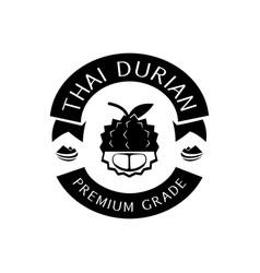 thai durian premium grade logo with mountain vector image vector image