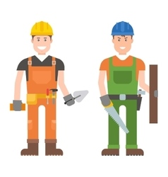 Worker man character vector image vector image