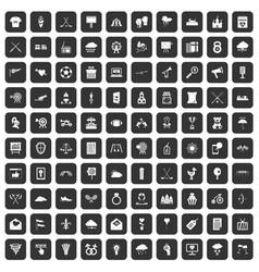 100 arrow icons set black vector