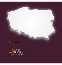3d map of Poland vector