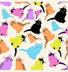 a pattern with different cute multi-colored vector image