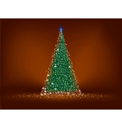 abstract green christmas tree vector image vector image