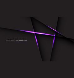 Abstract purple light line on dark grey polygon vector