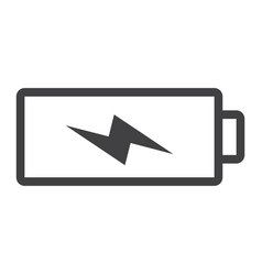 Battery charging line icon web and mobile vector
