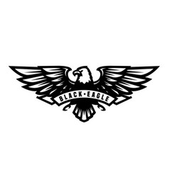 black eagle symbol emblem vector image