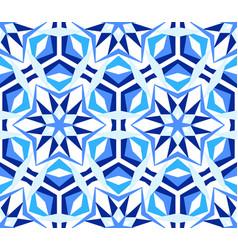 Blue kaleidoscope star pattern vector