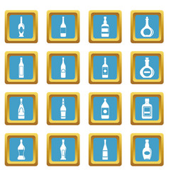 bottle forms icons azure vector image