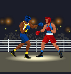 boxing match in ring vector image