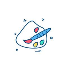 brush colour paint icon design vector image