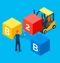 Busies to business flat isometric concept vector