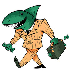 business shark isolated vector image