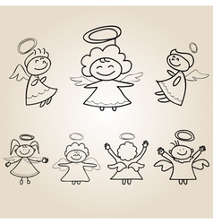 Cartoon angels character vector