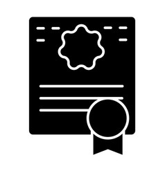 Certificate solid icon diploma vector
