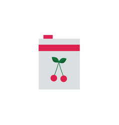 cherry juice or jam packaging food product vector image