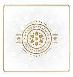 christmas and happy new year text greeting card vector image