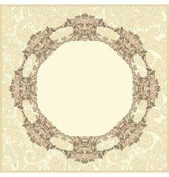 classical vintage old frame design vector image vector image
