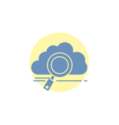 Cloud search storage technology computing glyph vector