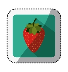 Color square with middle shadow sticker with vector