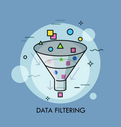 concept of digital data filtering electronic vector image